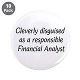 "Financial Analyst 3.5"" Button (10 pack)"