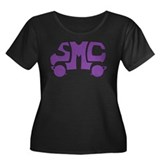 Purple SMC Van Logo Women's Plus Size Scoop Neck D