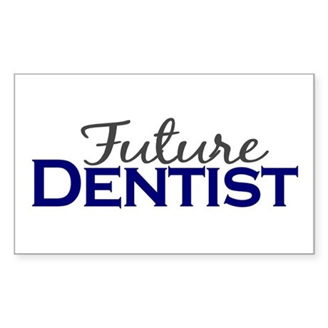 Future Dentist Rectangle Sticker