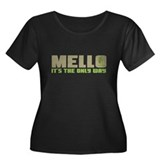 Mello Women's Plus Size Scoop Neck Dark T-Shirt