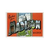 Madison WI Rectangle Magnet