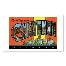 Cheyenne WY Rectangle Decal