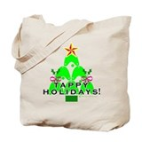 Tappy Holidays Christmas Tree Tote Bag