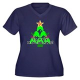 Tappy Holidays Christmas Tree Women's Plus Size V-