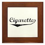 Cigarettes Framed Tile