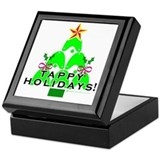 Tappy Holidays Christmas Tree Keepsake Box