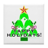 Tappy Holidays Christmas Tree Tile Coaster