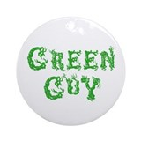 Green Guy Ornament (Round)