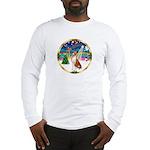 XmasMusic 3/Basenji Long Sleeve T-Shirt