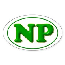 Green on Green Oval Sticker (50 pk)