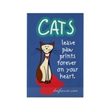 Cats Leave Paw Prints Rectangle Magnet (10 pack)