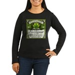 BLUNTWISER Women's Long Sleeve Dark T-Shirt