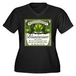 BLUNTWISER Women's Plus Size V-Neck Dark T-Shirt