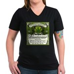 BLUNTWISER Women's V-Neck Dark T-Shirt