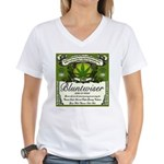 BLUNTWISER Women's V-Neck T-Shirt