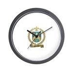 PELLETIER Family Crest Wall Clock