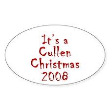 Twilight - Cullen Christmas Oval Decal