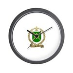 PERRON Family Crest Wall Clock