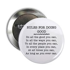 "RULES FOR DOING GOOD 2.25"" Button"
