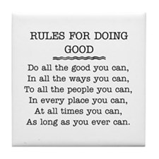 RULES FOR DOING GOOD Tile Coaster