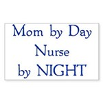 Mom by Day Rectangle Sticker 10 pk)