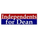 Independents for Dean (bumper sticker)