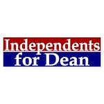 Independents for Dean (bumper sticker)