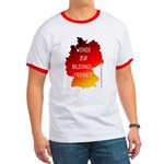 Bildungsfreiheit T-shirt (white with red bias)
