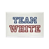 TEAM WHITE Rectangle Magnet