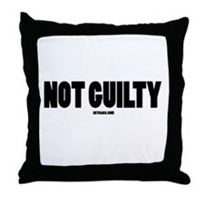NOT GUILTY Throw Pillow