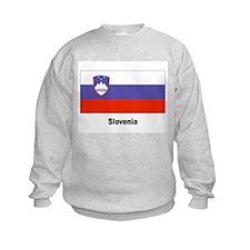Slovenia Slovenian Flag (Front) Sweatshirt