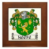 Keefe Coat of Arms Framed Tile