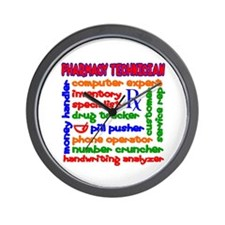 Pharmacy Technician Wall Clock