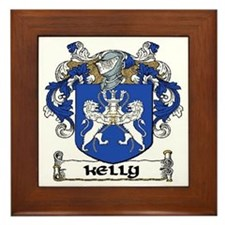 Kelly Coat of Arms Framed Tile