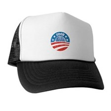 Vinatge Obama 2008 Logo Trucker Hat