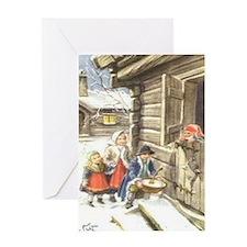 Cool Glaedelig jul Greeting Card