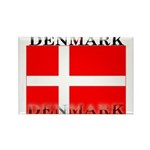 Denmark Danish Flag Rectangle Magnet (100 pack)
