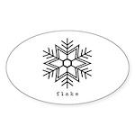 flake Sticker (Oval 50 pk)