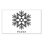 flake Sticker (Rectangle 50 pk)