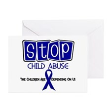 Stop Child Abuse 1 Greeting Cards (Pk of 20)