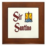 Sir Santino Framed Tile