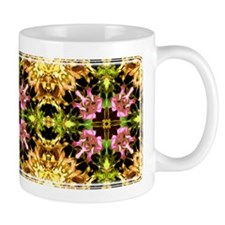 Yellow Kaleidoscope Wheel Mug