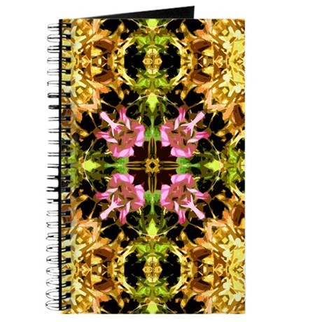 Yellow Kaleidoscope Wheel Journal