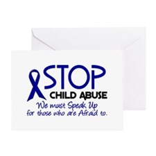 Stop Child Abuse 2 Greeting Card