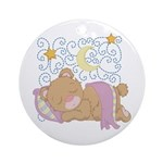 Bear Moon and Stars Ornament (Round)