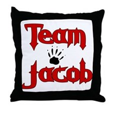 Team Jacob Throw Pillow