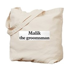 Malik the groomsman Tote Bag