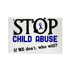 Stop Child Abuse 3 Rectangle Magnet (10 pack)