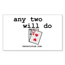 """any two will do"" Rectangle Decal"