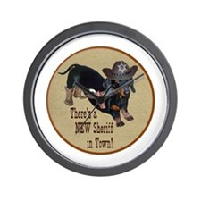 Helaine's Sheriff Ollie Dirt Wall Clock